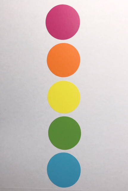 Line-Up Dots - 1 to 25 - Bright Colors - 5″ Diameter ...